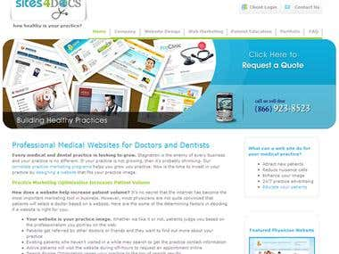 Professional Medical Website for Doctors and Dentists