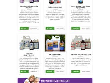 Mother Earth Labs INC Web Design