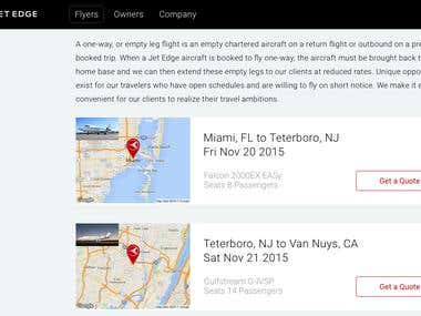 Website for Fly Jet Edge ( Airline-Company )