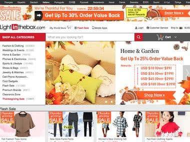 An E-commerce Website for US Client
