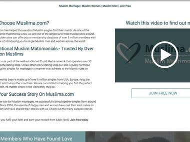 Muslim Matrimonial Website  for Saudi Arabian Client