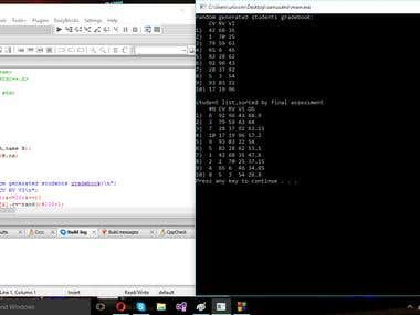 Console C++ programs