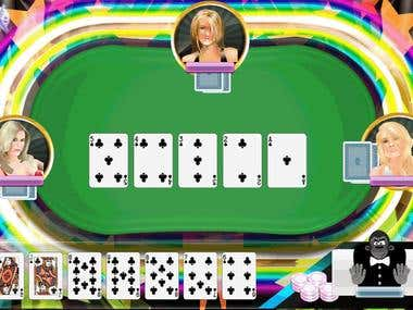 Mobile Poker Game Interface Templates