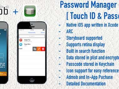 Password Manager - Touch ID & Passcode