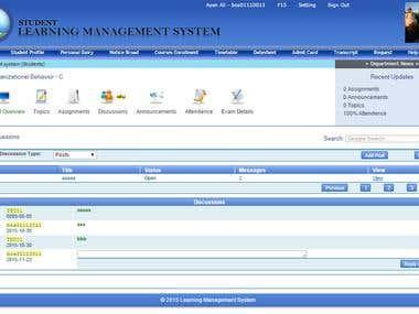 Learning Management System (University )