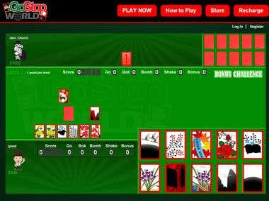 HTML5 multiplayer korean GOSTOP card game