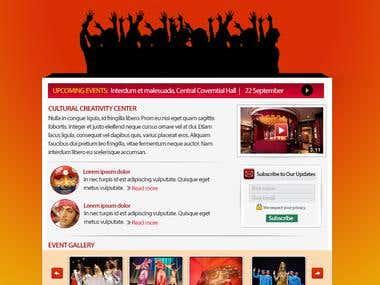Web Design for Cultural Creativity Center