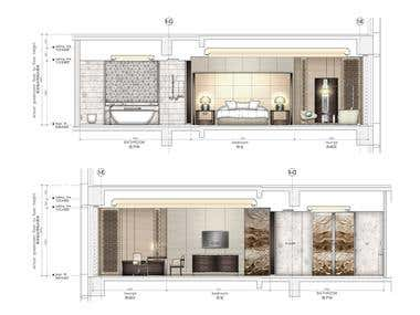 Guest room Elevation