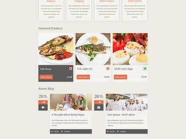 Restaurant PSD Design