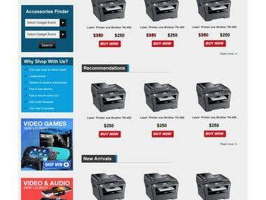 E-commerces site design