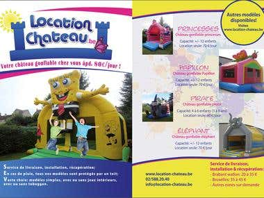 Flyer for inflatable castles