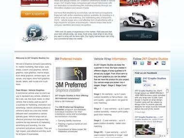 Business Catalyst website screen shot.