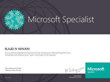 Microsoft Specialist for Server Virtualization with Hyper-V