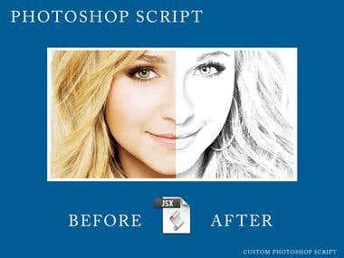Photoshop Script - Sketchy