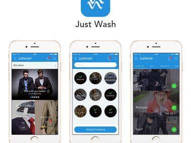 Redesign JustWash App