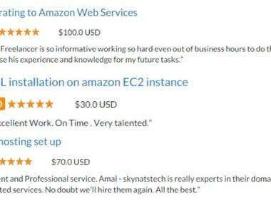 AWS Experience