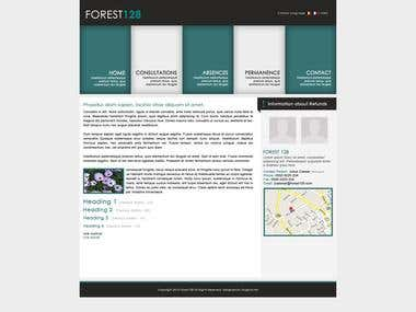 Forest 128 Website design