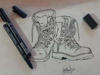 SHOES HAND DRAWING