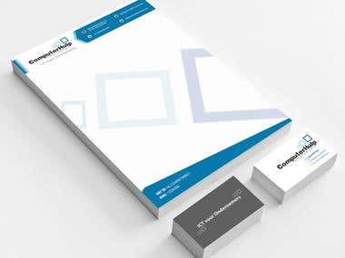 Letterhead and business cards design
