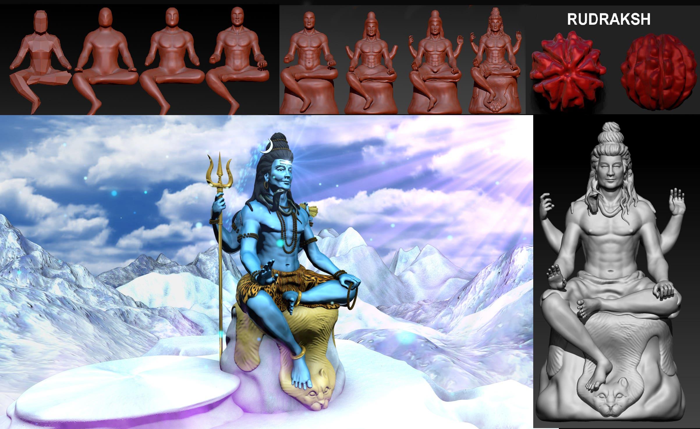 Hindu God - Lord Shiva - 3D Intro