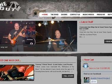 Band Website w/ CMS