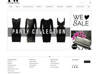 FashionWishes - Woocommerce integrated WordPress website