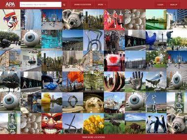 APA- The Art work website