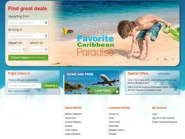 Website Mock-Up for Airline