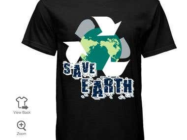 T shirt design for Earth Day
