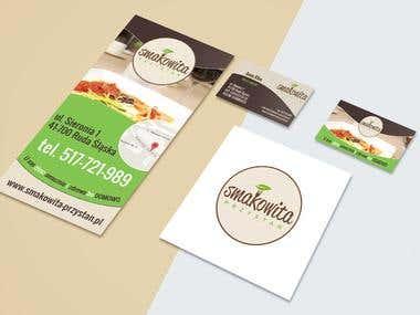 Visual identity for restaurant Smakowita Przystań