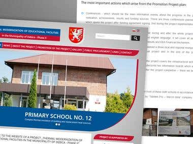 Website forthermal modernization of educational facilities