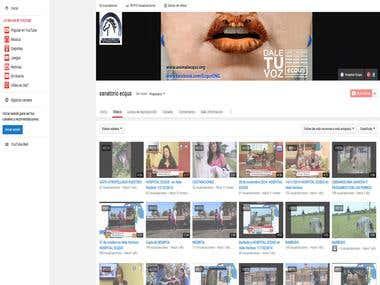 Creación de canal de Youtube para una ong