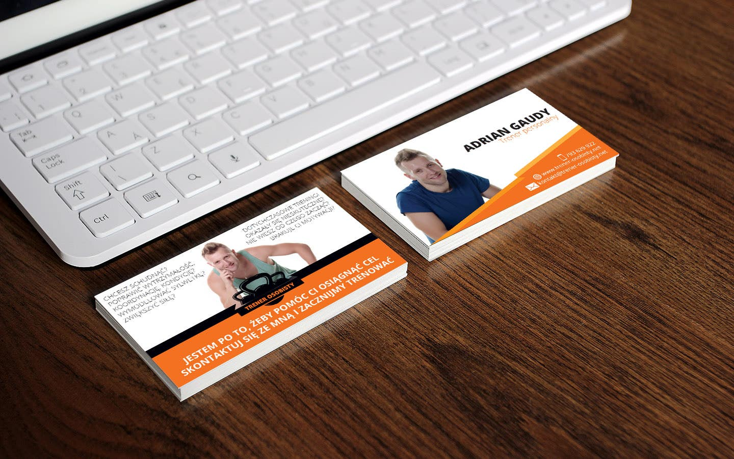 Business cards for personal trainer