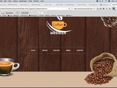 Coffee site template for wordpress and html