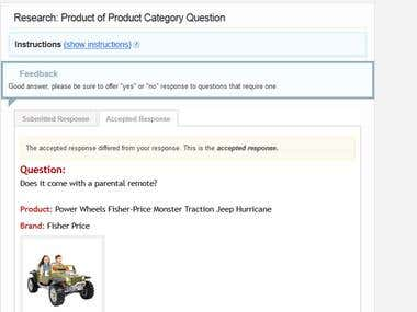 Product Category and Answers