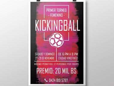 Kickingball tournament poster