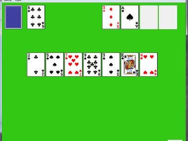 solitaire game in c++