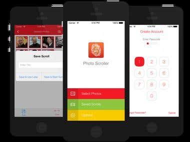 iPhone app for custom photo gallery