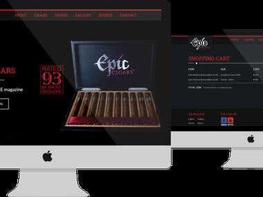 Website for leading cigar brand