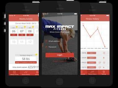 iPhone fitness app
