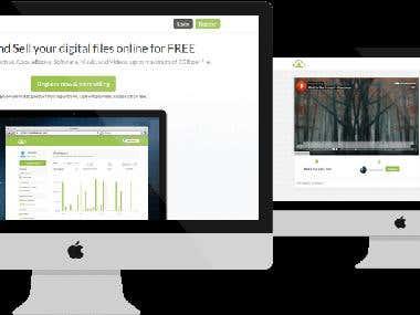 Digital file selling platform