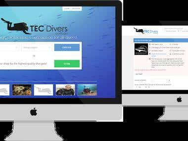 Dive event and course booking system