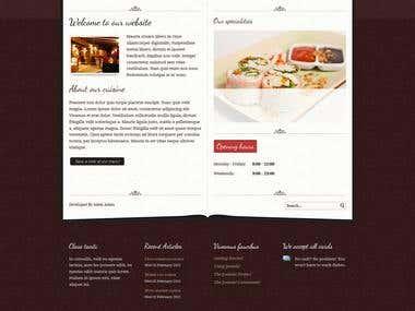 Restorant in HTML5