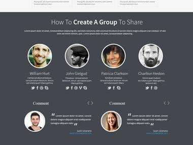 website design for online asset sharing management