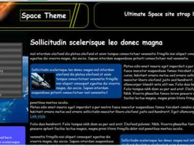 New Space themed Wordpress template design