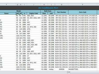 Data Processing, Spreadsheet, Database