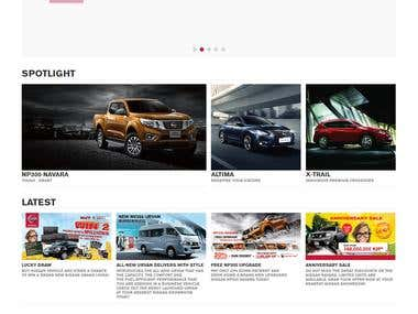 Website of Nissan Automobiles for Laos.