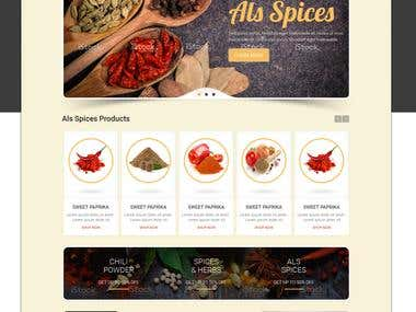 Als Spices PSD to Bootstrap Conversion