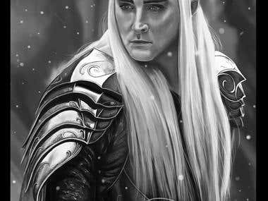 Thranduil digital illustration