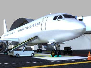 3D Models for airline company